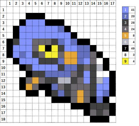 Pokemon ポケモン 図案 453 グレッグル Croagunk