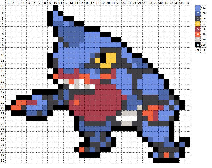 Pokemon ポケモン 図案 454 ドクロッグ Toxicroak