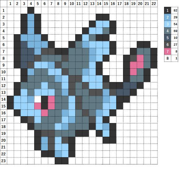 Pokemon ポケモン 図案 457 ネオラント Lumineon