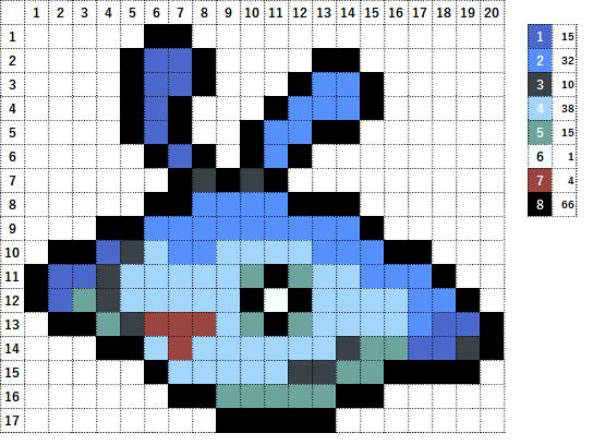Pokemon ポケモン 図案 458 タマンタ Mantyke