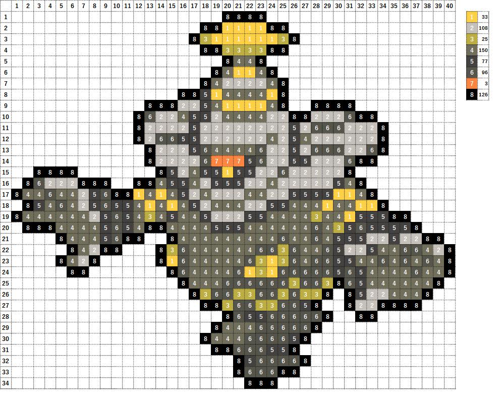 Pokemon ポケモン 図案 477 ヨノワール Dusknoir
