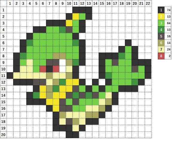 Pokemon ポケモン 図案 496 ジャノビー Servine