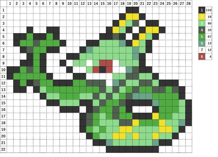 Pokemon ポケモン 図案 497 ジャローダ Serperior