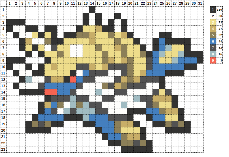 Pokemon ポケモン 図案 503 ダイケンキ Samurott