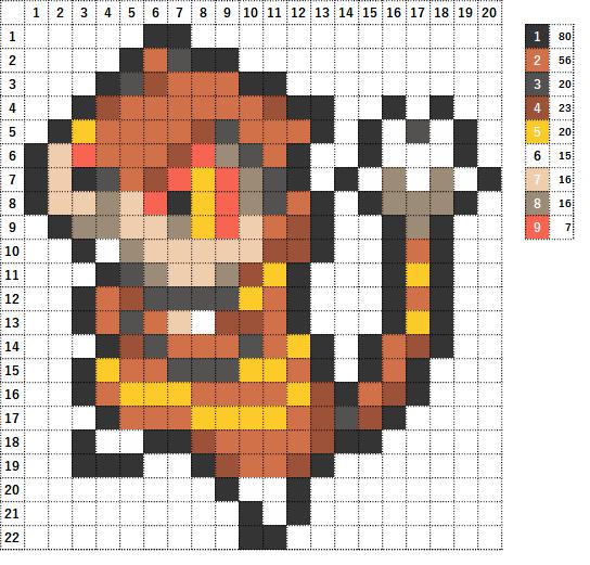 Pokemon ポケモン 図案 505 ミルホッグ Watchog