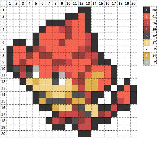 Pokemon ポケモン 図案 513 バオップ Pansear