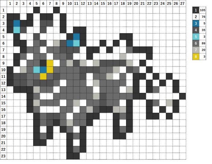 Pokemon ポケモン 図案 523 ゼブライカ Zebstrika