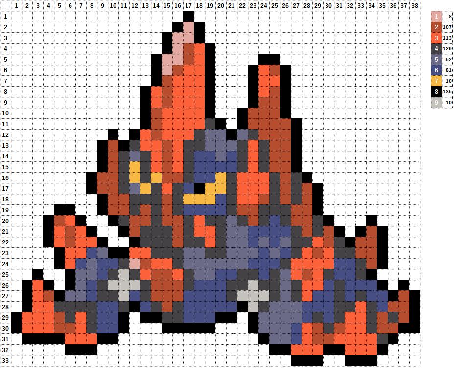 Pokemon ポケモン 図案 526 ギガイアス Gigalith