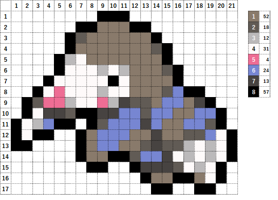 Pokemon ポケモン 図案 529 モグリュー Drilbur