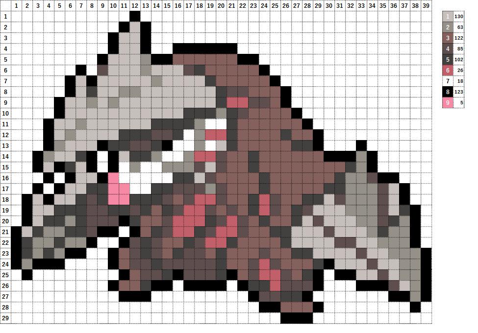 Pokemon ポケモン 図案 530 ドリュウズ Excadrill