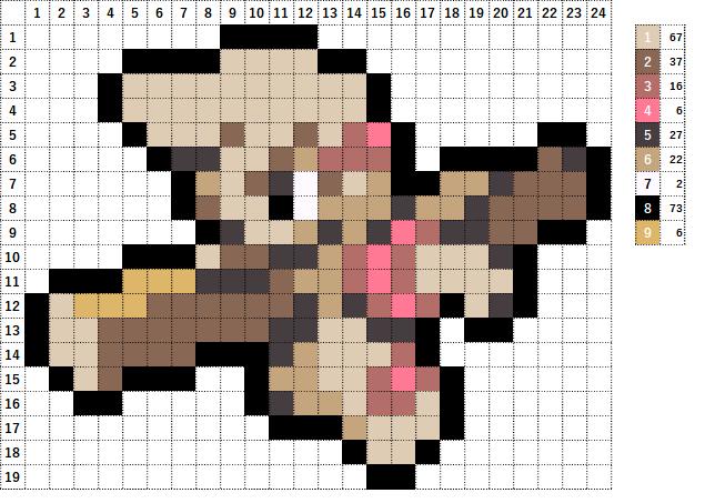 Pokemon ポケモン 図案 532 ドッコラー Timburr