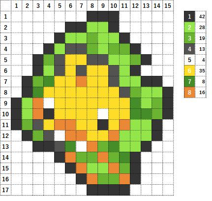 Pokemon ポケモン 図案 540 クルミル Sewaddle