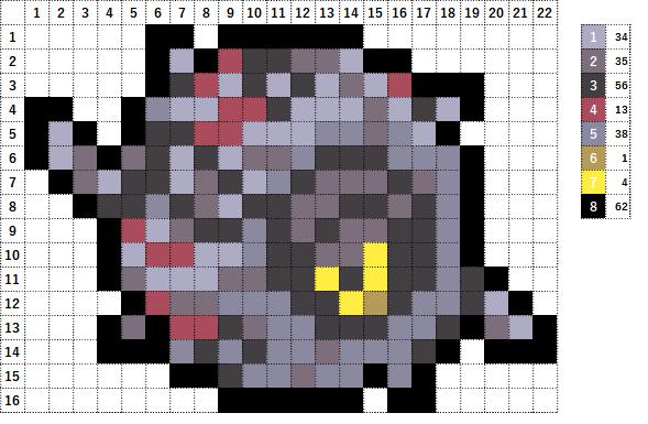 Pokemon ポケモン 図案 544 ホイーガ Whirlipede