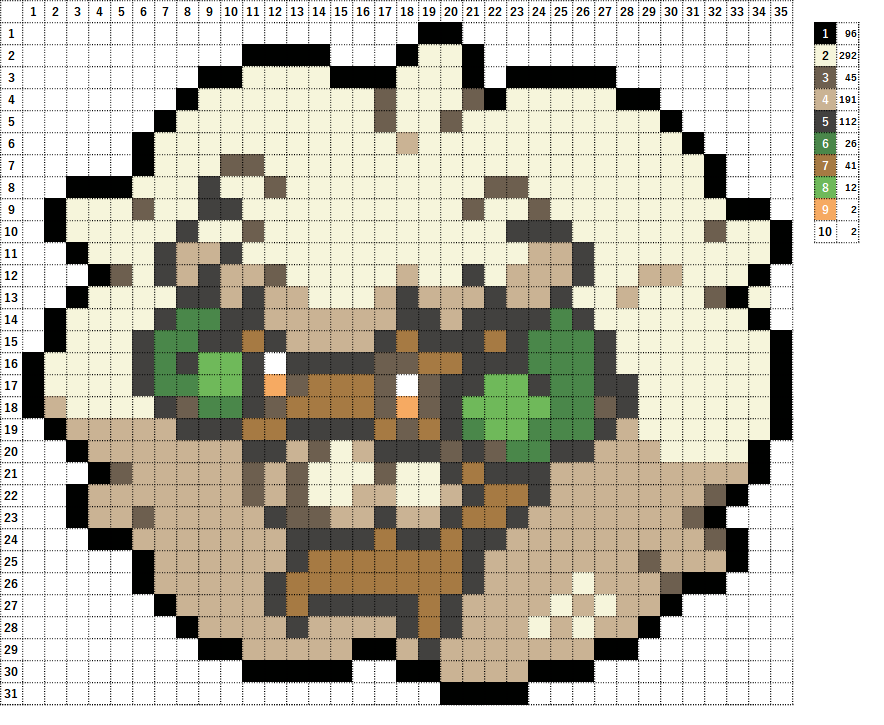 Pokemon ポケモン 図案 547 エルフーン Whimsicott