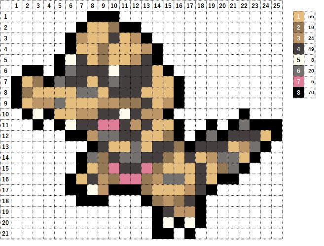 Pokemon ポケモン 図案 552 ワルビル Krokorok
