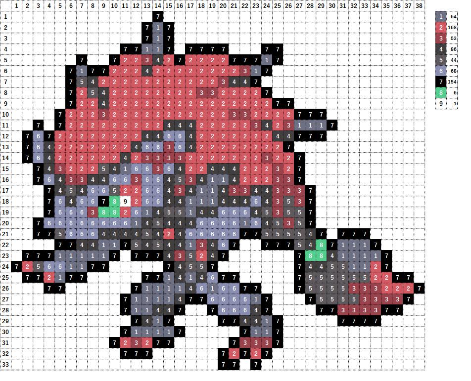 Pokemon ポケモン 図案 571 ゾロアーク Zoroark
