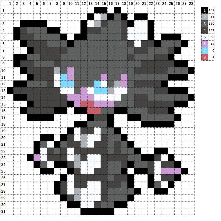 Pokemon ポケモン 図案 576 ゴチルゼル Gothitelle